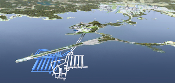 Sweden's SFR repository, with proposed expansion shown in blue (Credit: SKB)