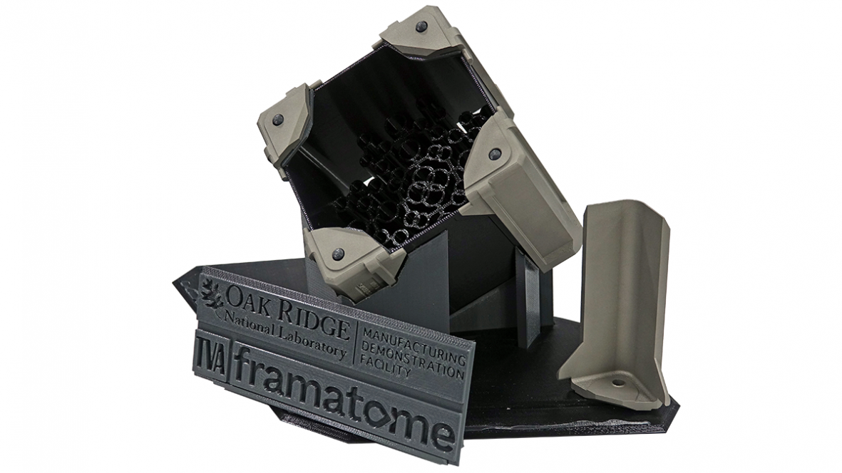 Additively manufactured channel fasteners for Framatome's boiling water reactor fuel assembly (Photo: ORNL)