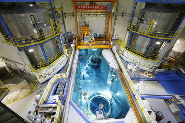 The unit 5 of the Tianwan nuclear power plant completes its first fuel loading on July 9. [Photo/CNNC]