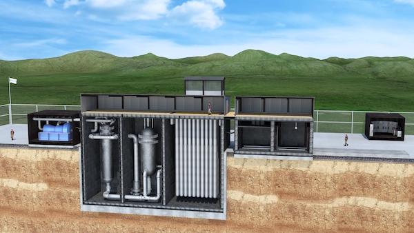U-Battery's micro modular reactor (Credit: U-Battery)