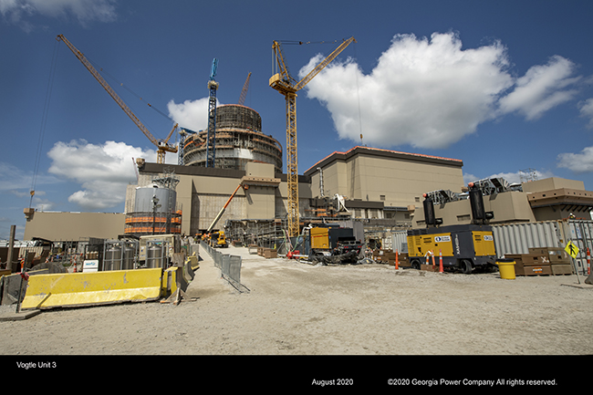 Vogtle 3 pictured in August 2020 (Photo: Georgia Power)