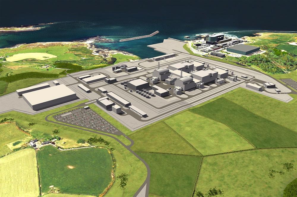 Proposed Wylfa Newydd nuclear plant (Credit: Horizon)