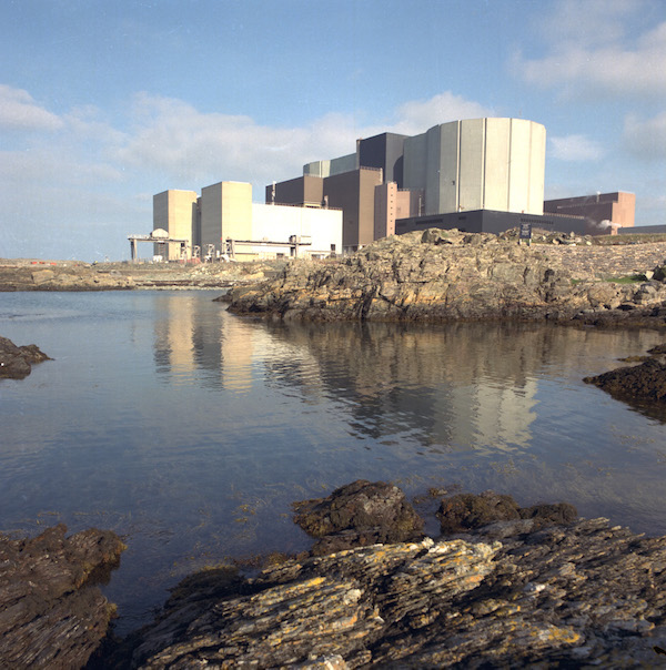 The Wylfa nuclear power plant undergoing decommissioning