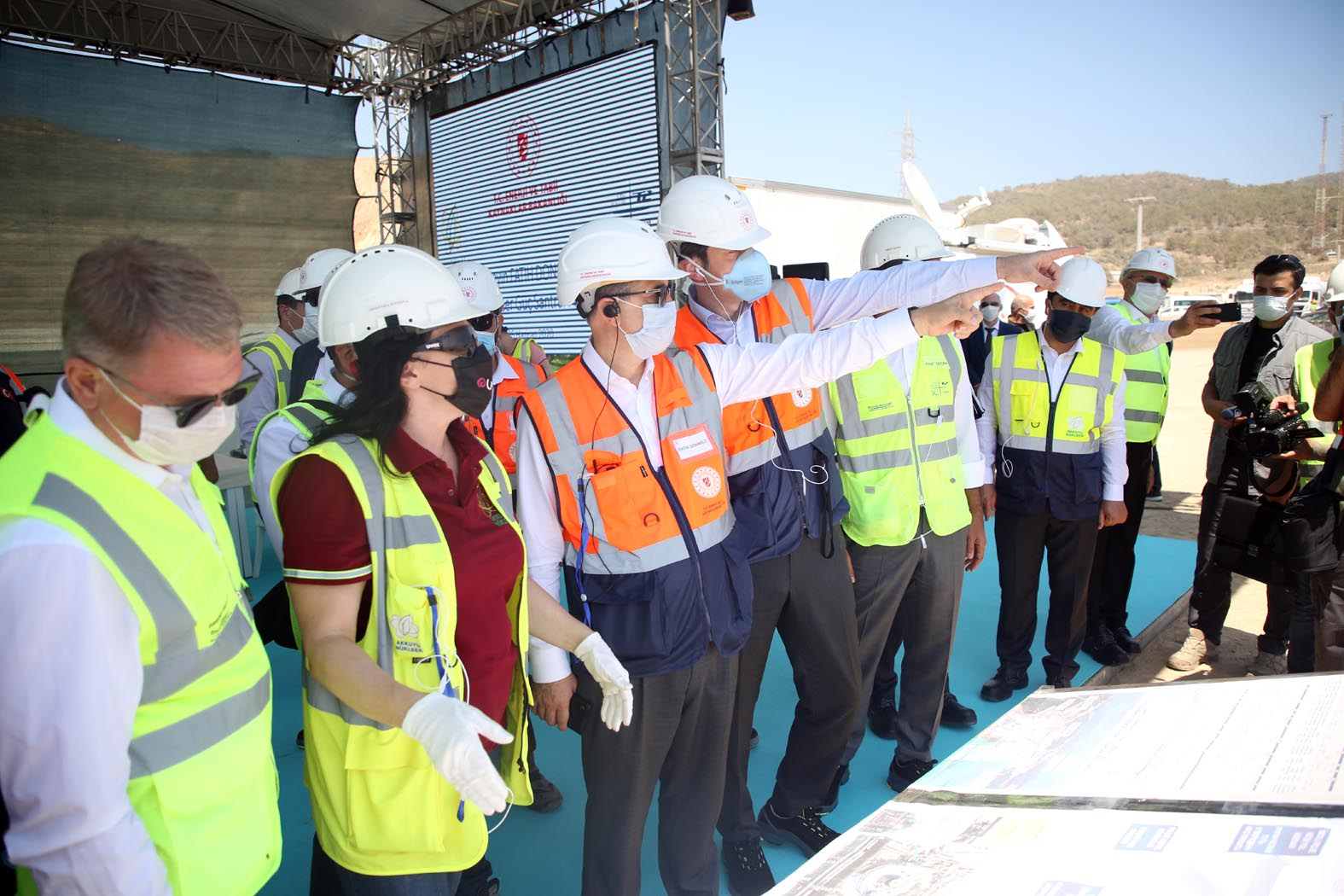 Turkey's Minister of Energy and Natural Resources Fatih Dönmez visited the Akkuyu site in June (Photo: Turkish Energy Ministry)