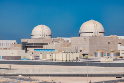 Barakah 1 and 2 in the UAE (Photo credit: ENEC)