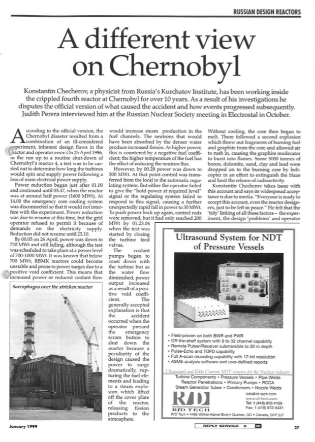 Reinterpreting Chernobyl - Nuclear Engineering International