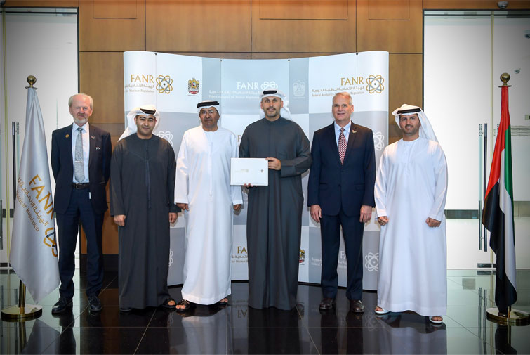 FANR presents operating licence to ENEC