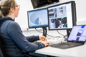 The control room of the UKAEA Materials Research Facility at Culham (Photo: UKAEA)