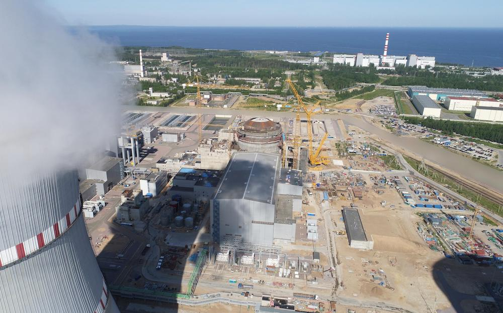Leningrad II construction site pictured in June 2019 (Credit Rosenergoatom)