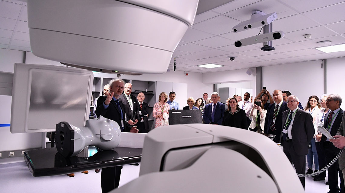 Opening ceremony of the new linear accelerator (linac) facility at the Nuclear Applications Laboratories in Seibersdorf, Austria. (Photo: D. Calma/IAEA)