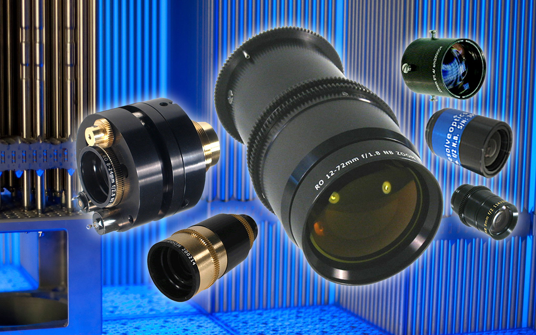 Resolve Optics has developed a range of non-browning (radiation resistant) zoom lenses for use in environments subject to radiation.