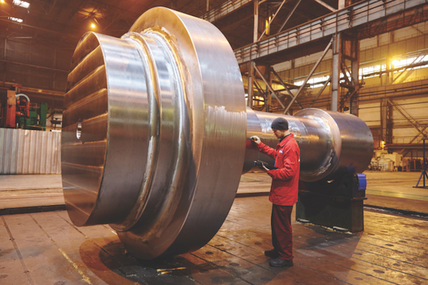 Ukraine's Energomashspetsstal has introduced a new technology for manufacturing parts of steam turbine rotors