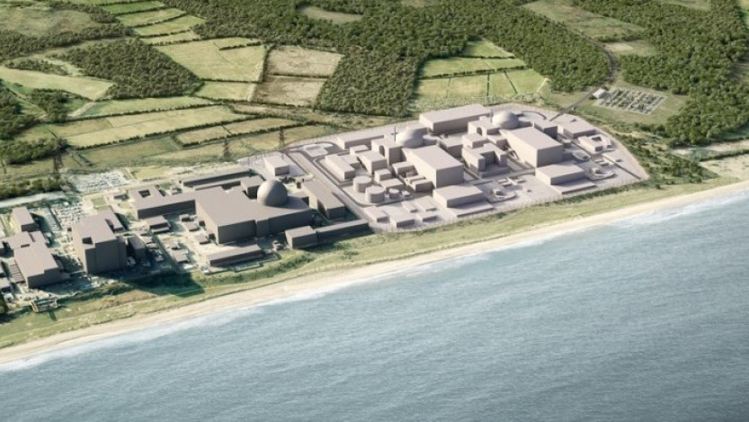 Proposed Sizewell C nuclear plant (credit: EDF Energy)