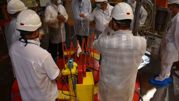 The Integrated Safety Assessment for Research Reactors (INSARR) team concluded an eight-day mission today to assess the safety of the LVR-15 research reactor (Photo: IAEA)