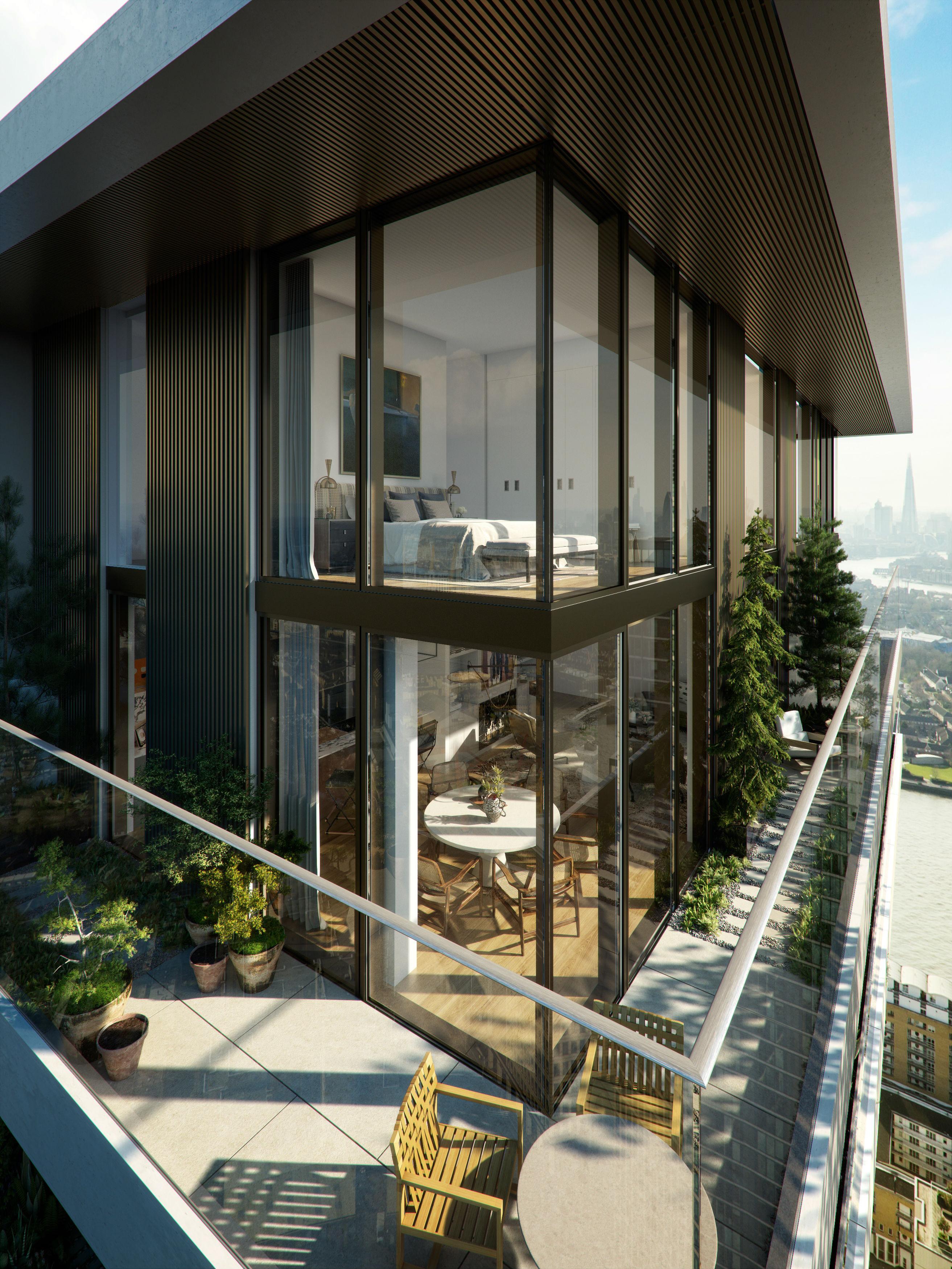 Balcony Design London: EcoWorld Ballymore Launches Botanic-beauty Penthouses At