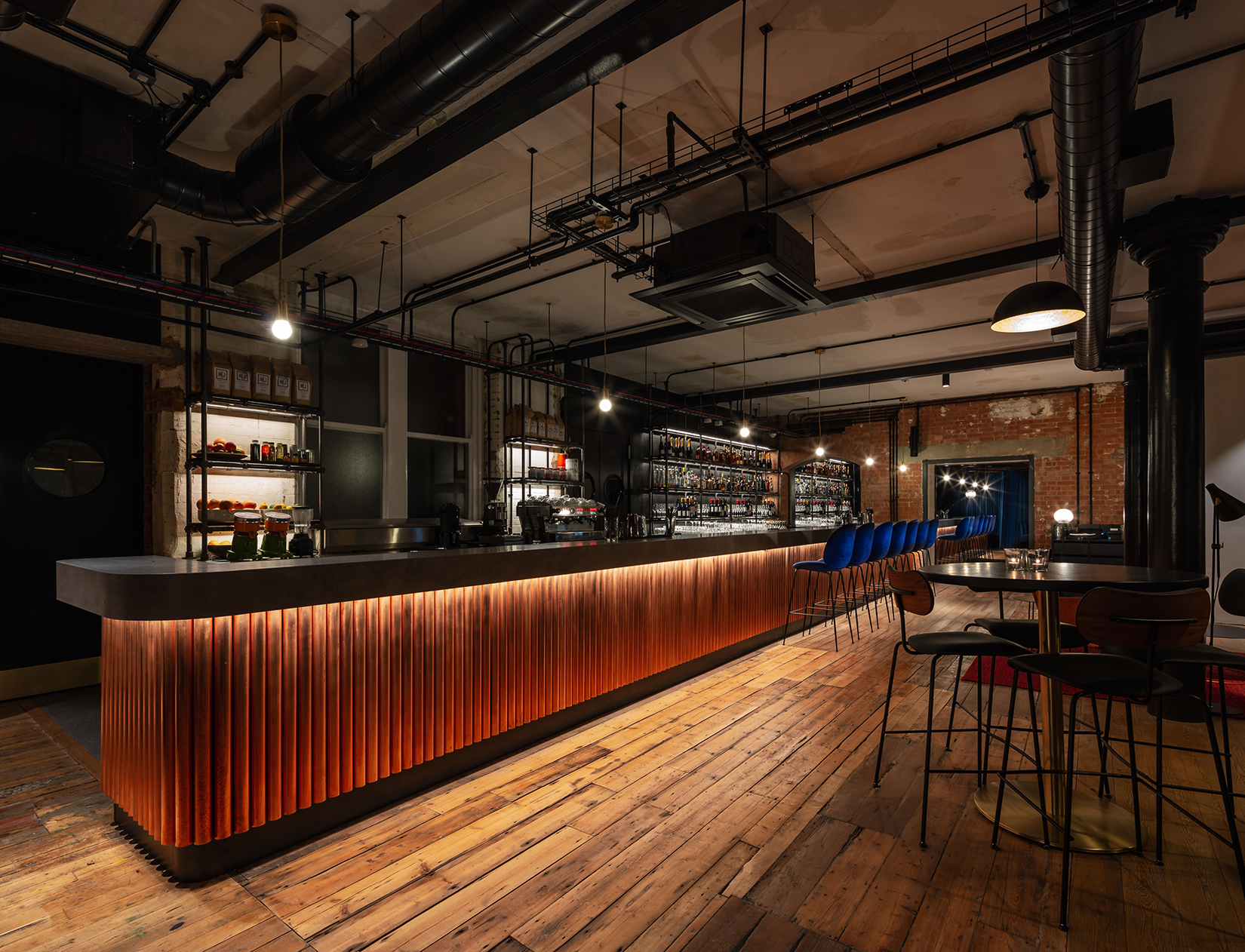 A new private members club for the Ministry of Sound, designed by Squire & Partners, features a stand-out bar