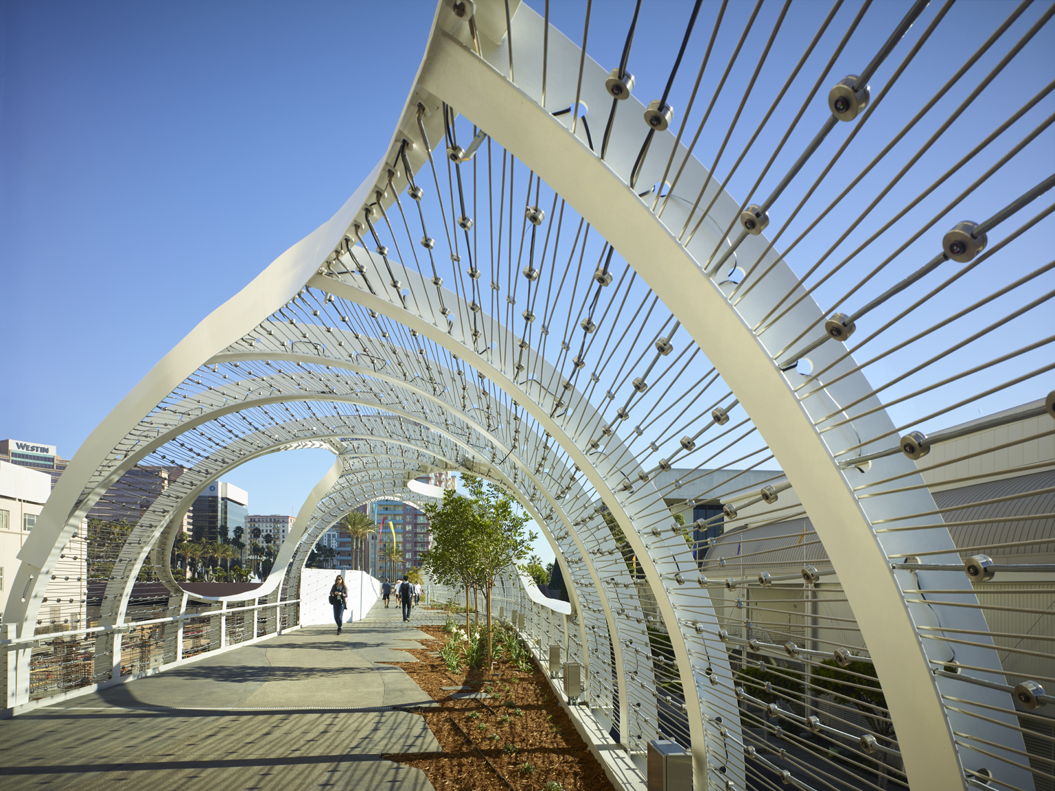 The Rolling Waves Of Long Beach Inspire The Rainbow Bridge