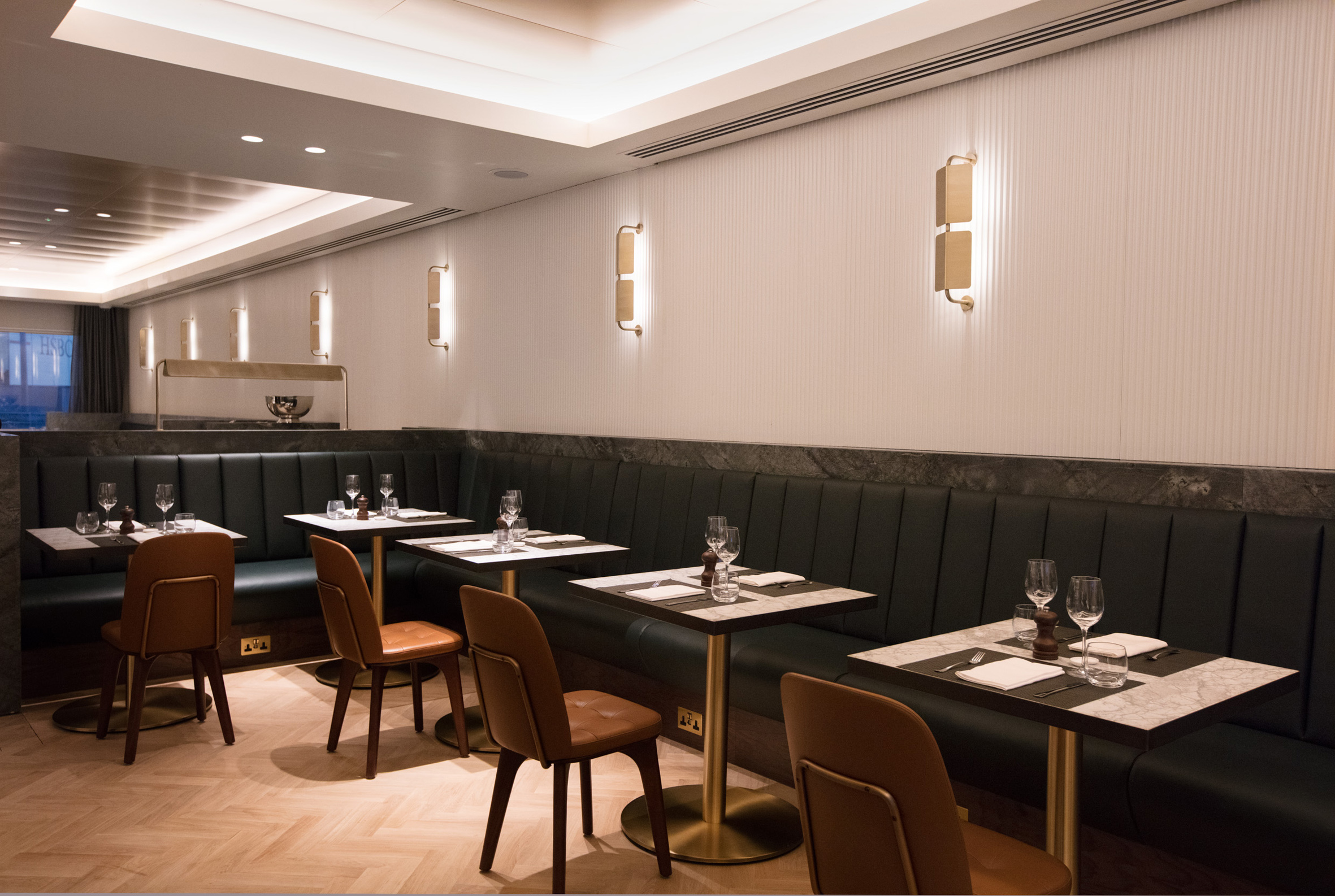 Sneak a peek at the interiors of qantas london lounge designcurial