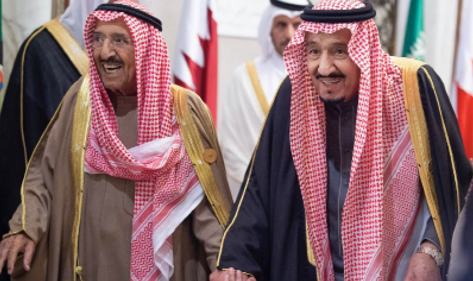 Saudi Arabia's King Salman bin Abdulaziz al-Saud (right) and Kuwaiti Emir Sheikh Sabah al-Ahmad al-Jaber al-Sabah (left) attended the 40th GCC annual summit in Riyadh late last year
