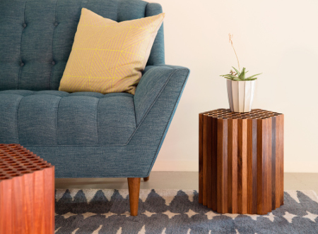 Inspired By Geometry In Nature, The Honeycomb Table Combines These Small,  Reclaimed, Wine Oak Strips Into Hexagonal Cells Comprised Of Hundreds Of ...