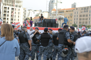 Lebanon protesters in Beirut October 2019