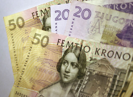 Picture of Swedish bank notes
