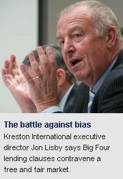 Kreston International, Jon Lisby, Big Four lending clauses