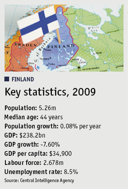 Boxout of FINLAND: Key statistics, 2009