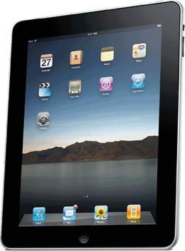 Photograph of iPad screen