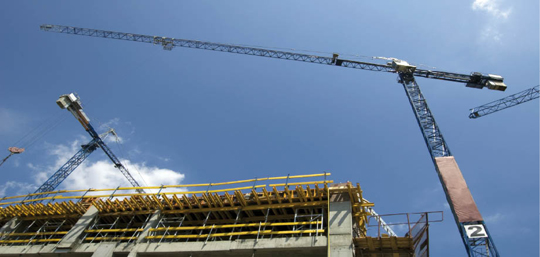 Photo of a construction crane