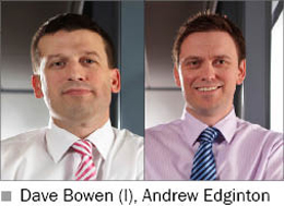 Picture of BT Fleet's Dave Bowen (left) and Andrew Edginton (right)