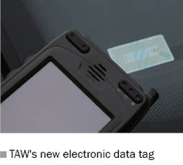 Picture of TAW's new electronic data tag