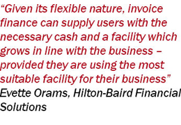 Pull quote by Evette Orams, Hilton-Baird Financial Solutions