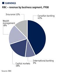 RBC - revenue by business segment, FY08