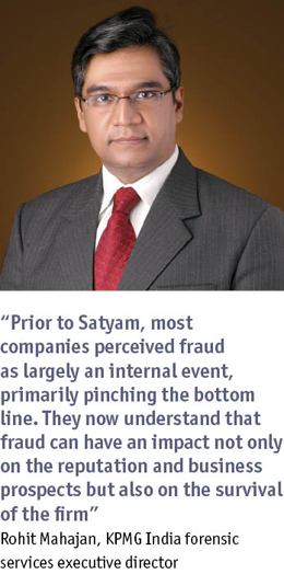 Photo of, and pullquote from, KPMG India forensic services executive director Rohit Mahajan
