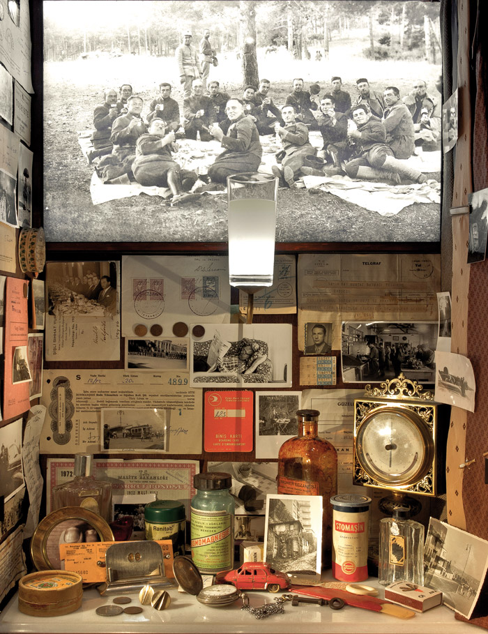 Grouped artefacts tell the stories of fictional characters from Orhan Pamuk's novel
