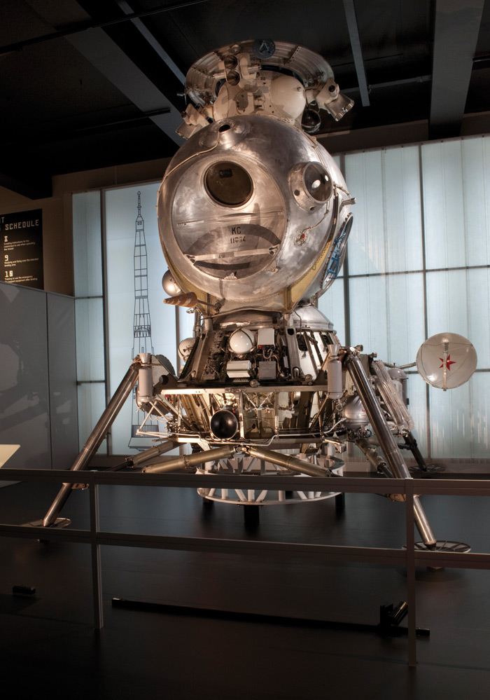 The LK-3 lunar lander (engineering model, 1969) in the Cosmonauts exhibition