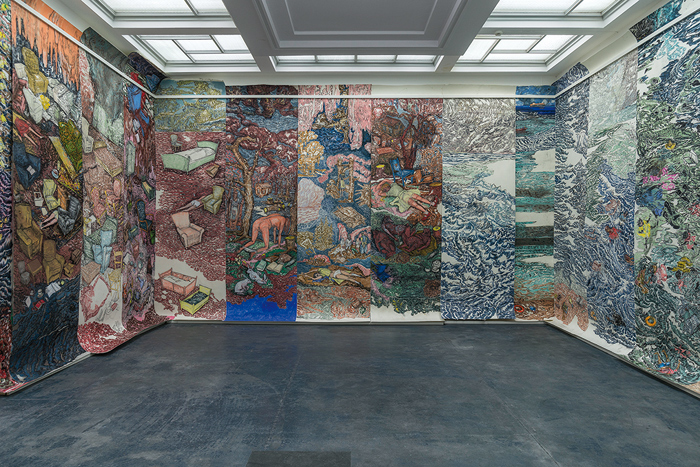 Vanessa Baird's wallpaper, embracing big political and personal issues