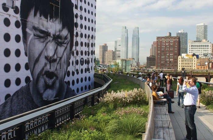 The planting mimics the wild High Line