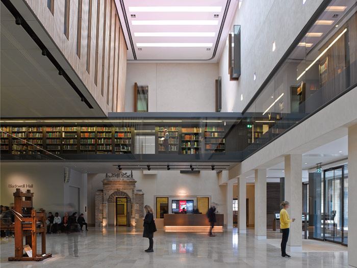 Inside the Weston Library, formerly the New Bodleian and now with a £80m transformation by Wilkinson Eyre