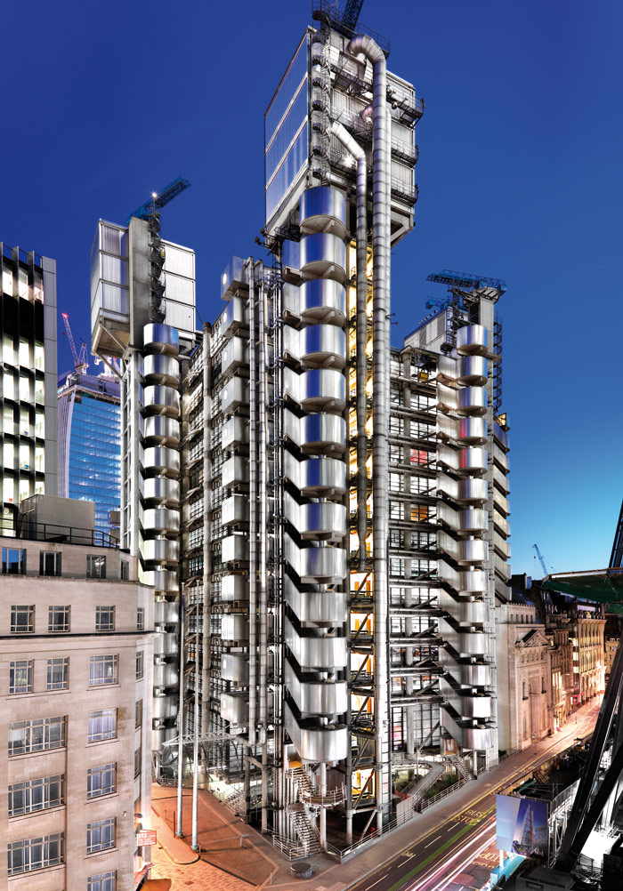 Richard Rogers' Lloyd's Building, London (1981-6), Grade I listed in 2011