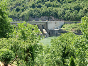 The Serbian hydropower plant Zvornik is situated on the River Drina. (Source: Voith)