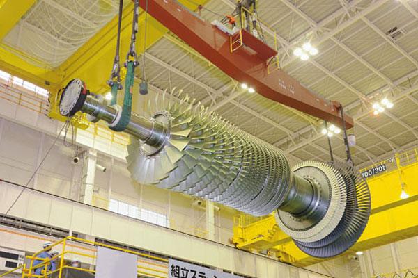 MHI F-Series gas turbine rotor