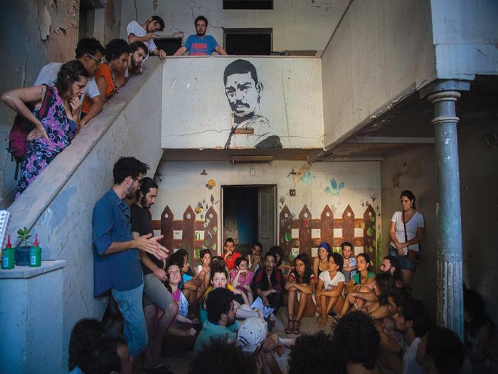 An abandoned building in the centre of Belo Horizonte has been transformed into a cultural centre run by local volunteers, hosting events and debates about the city