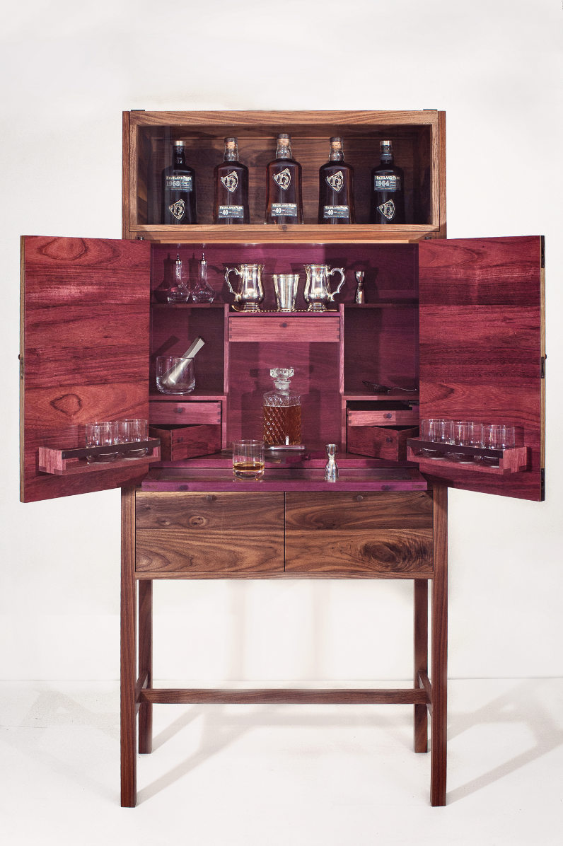 How to drink whiskey alto magazine for Built in drinks cabinet