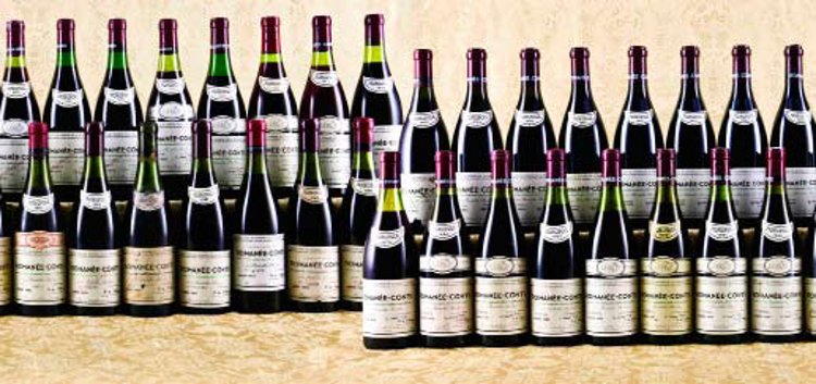 The 52-bottle superlot of Romanée-Conti 1952–2007 sold by Acker Merrall & Condit in Hong Kong on December 10, 2011 for a record-breaking price of US$813,333