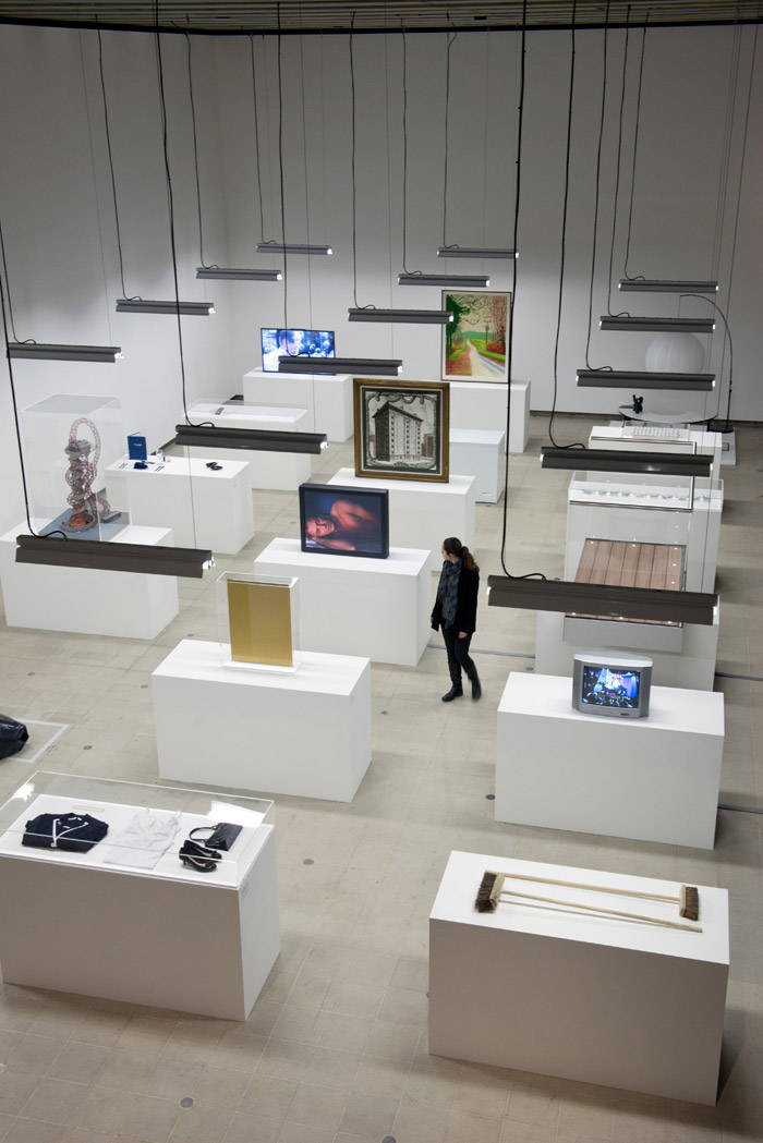 Simon Fujiwara's curated installation Photo: Linda Nylind