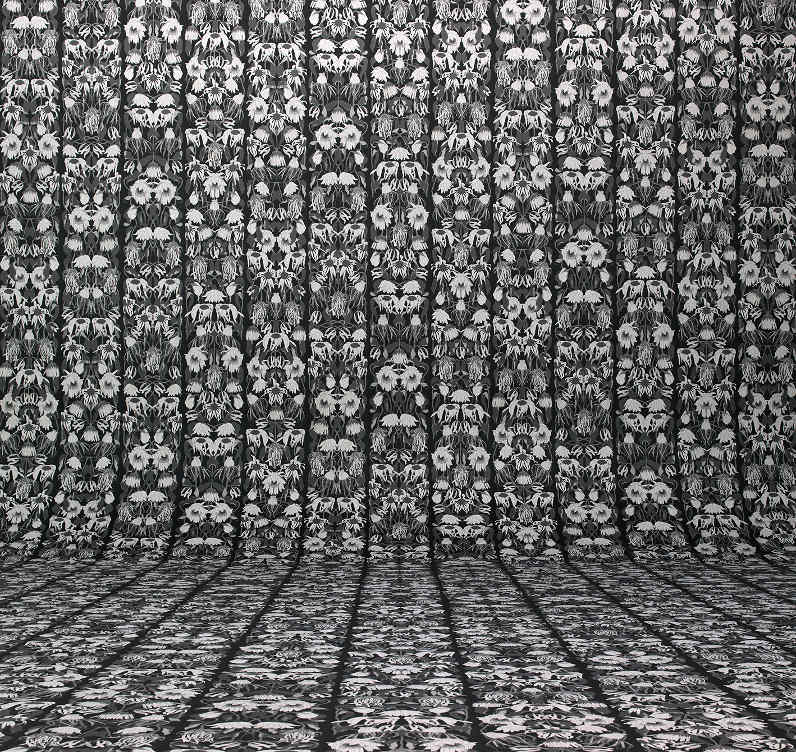 Withered Flowers monochrome wallpaper by Studio Job and NLXL