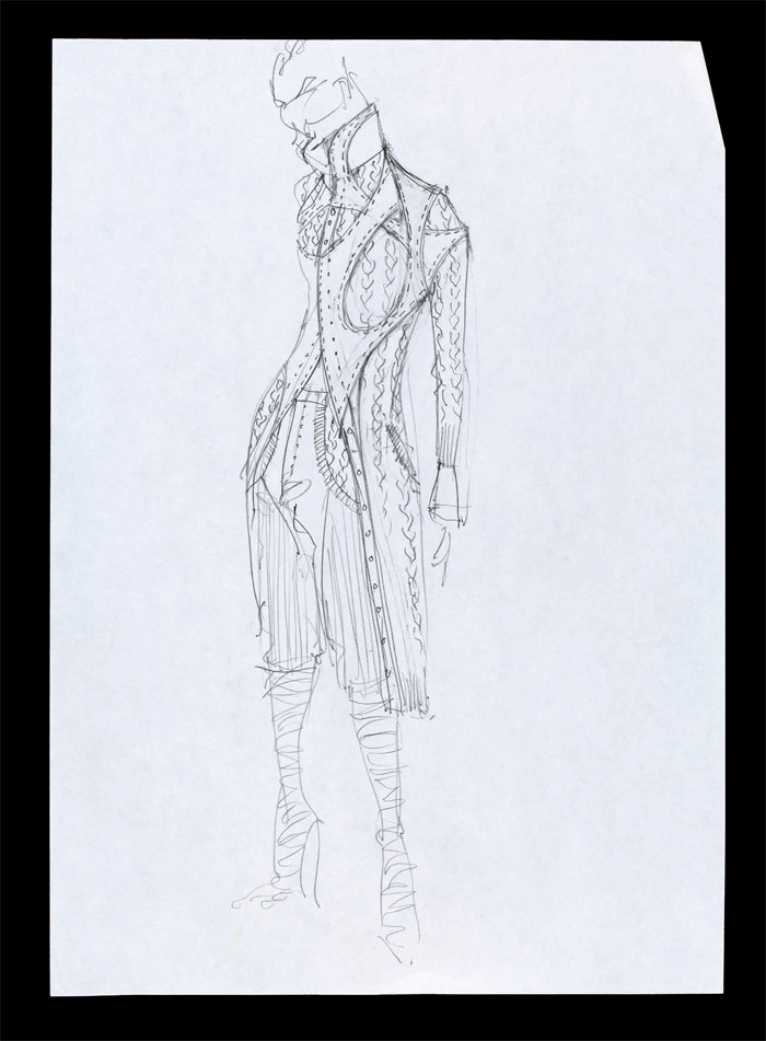 Sketch, Irere, Spring/Summer 2003. Pencil on paper, London 2002