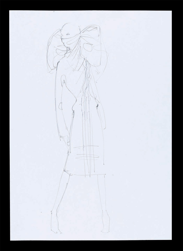 Sketch, Pantheon ad Lucem, Autumn/Winter 2004. Pencil on paper, London 2004